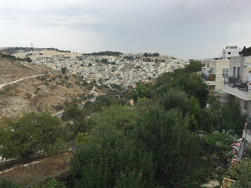The view the other direction overlooking East Jerusalem.