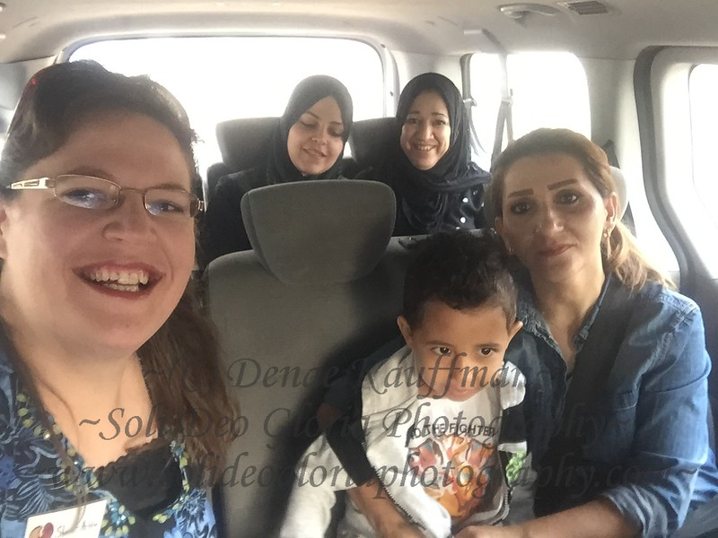 On our way to the hospital for apointments for Payam and Rovar. We took Sundus along to translate for us.