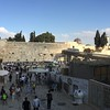 The Western Wall on Shabbat. The tunnel to the right is the visitors entrance to the Temple Mount.