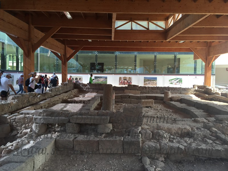The ruins of the temple at Magdala. This location was only discovered in 2009. Another exact location of a place where Jesus taught.