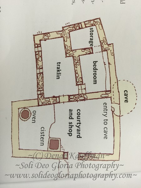 The typical layout of a house in Jesus day.