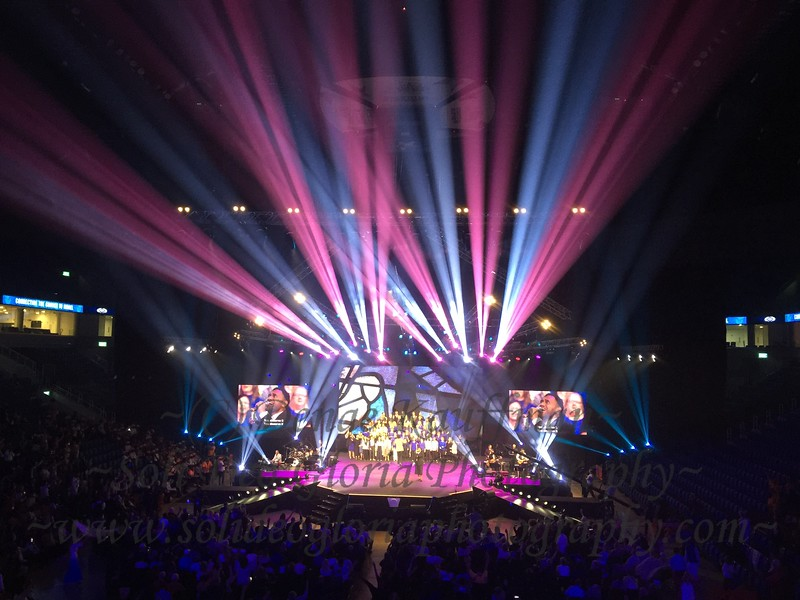 That night at the Payis Arena there was a gathering for all Israel night with praise music, choreographed dances, and speakers from all over the world!