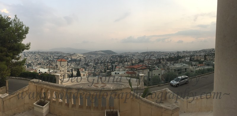 A gorgeous panorama from the overlook of the sprwaling Nazareth!