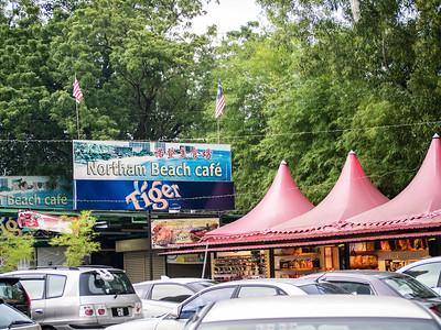 Beautiful oceanside cafe