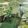 Mannequins were set up throughout the ship to show how the crew worked