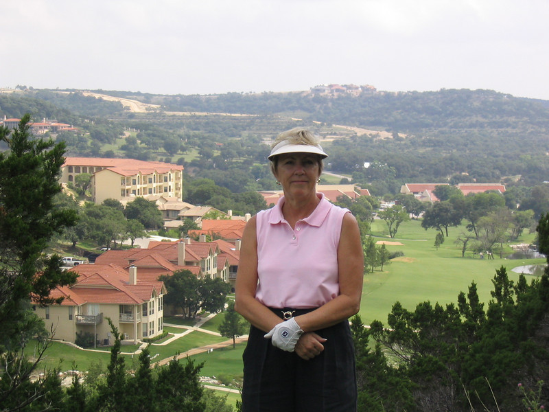 Mom at the 6th tee box.