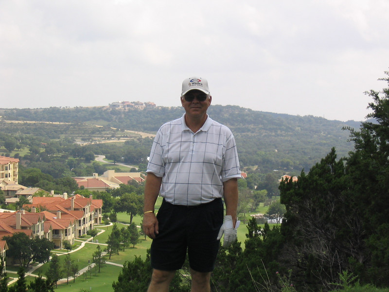 Dad at the 6th tee box