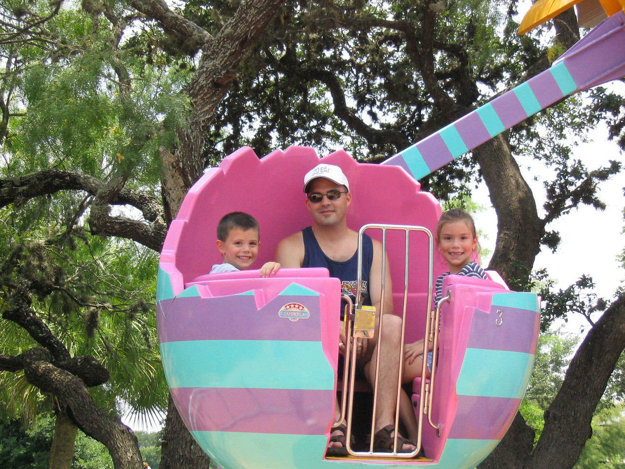 Riding some of the rides at Sea World.