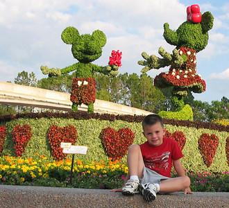 At the Epcot entry.