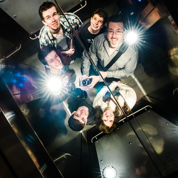 My crew in the hotel elevator. :)