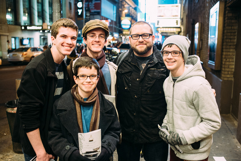 The boys met the lead of Les Miserables after the show.