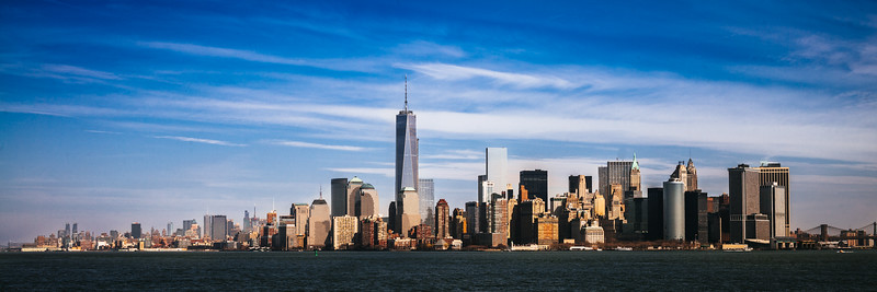 One World Trade and the New York skyline.