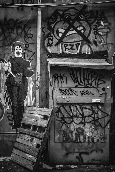 Soho graffiti art.