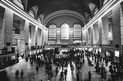 Grand Central Station in motion.