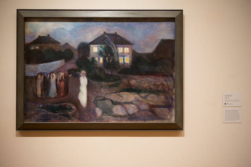 """A beautiful painting from Edward Munch in the MoMA - similar in feel to his famous work """"The Scream""""."""