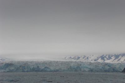 The closest we got to the glacier. It did not calf while we were there. I now want my money back.
