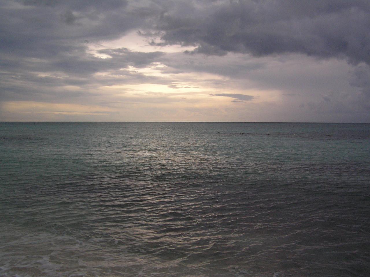 The sunset at Iberostar Paraiso Lindo