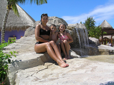 Iberostar Paraiso Lindo - posing at the waterfall.