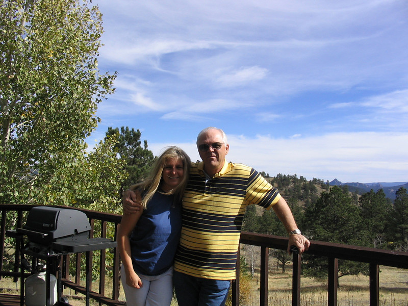 Dad and Aunt Pam at her house outside of Denver.
