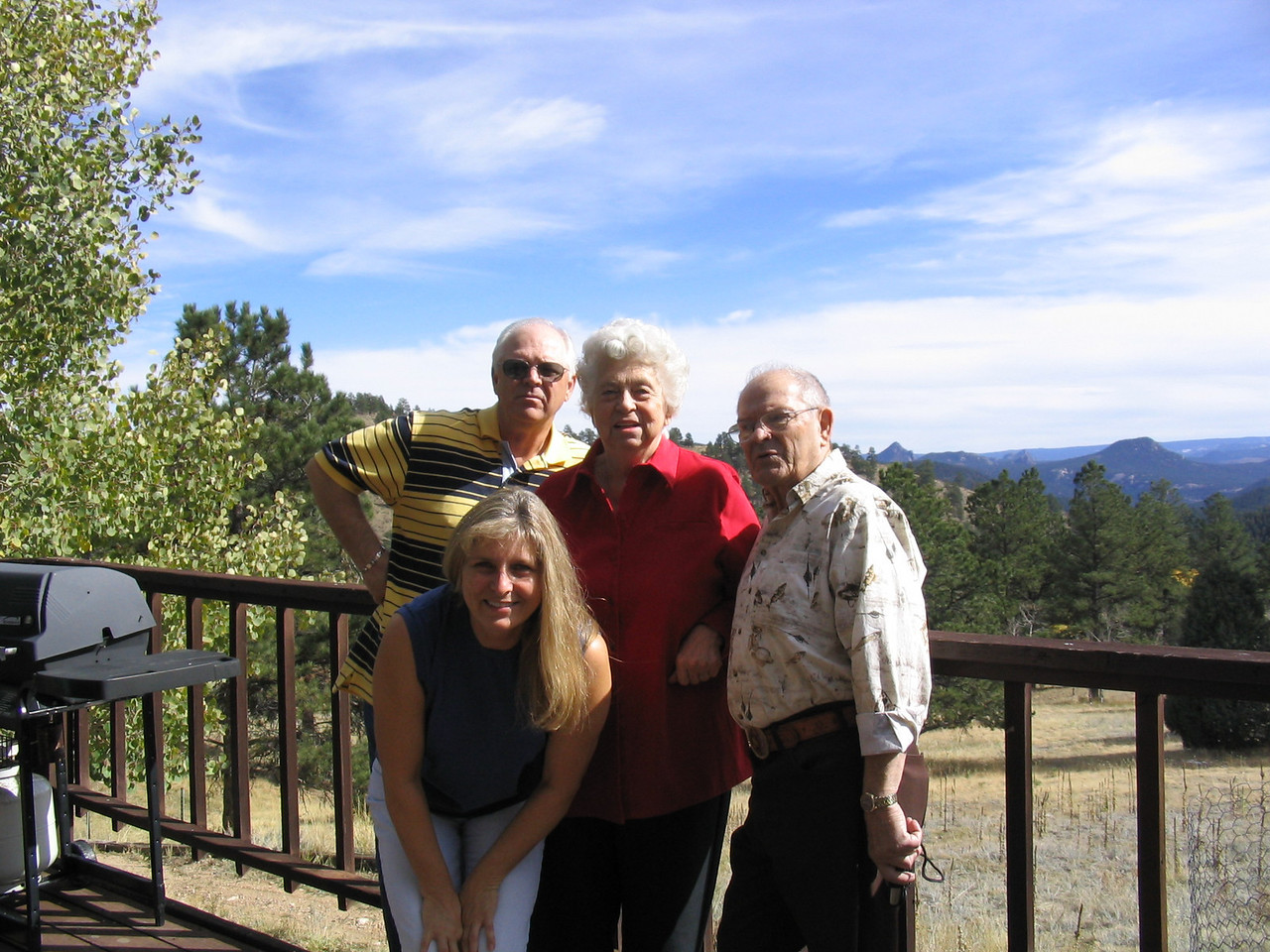 Dad, Grandma, Grandad and Aunt Pam at her house outside of Denver.