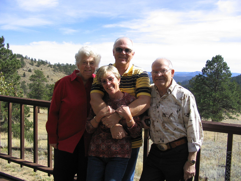 Mom and Dad, Grandma and Grandad at Aunt Pam's house outside of Denver.