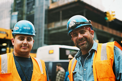 Two construction workers from the Freedom Tower.