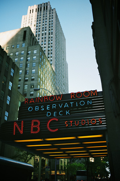 Walking around Rockefeller Center...