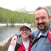 Terra and Jer at Bear Lake - This is also a popular snow shoeing trail in the winter...