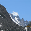 Very cool shot of the jagged peaks, taken from our trail...