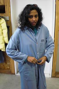 Priya suits up.