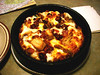 WHITE CHICKEN PIZZA<br /> A Hometown Pizza special, which I highly recommend if you ever find yourself in town. Quoting directly from the menu:  Fresh spinach, red onions, grilled chicken, crisp bacon & shredded cheddar on a bed of creamy Alfredo sauce. Yum!
