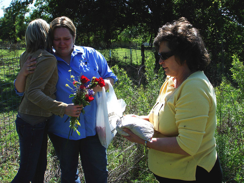 A FEW WORDS<br /> Lyn saying a few loving words about and for Mom prior to the scattering of her ashes. Lyn did a wonderful job at this.