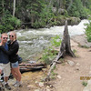 Josh and Torie by river, adjacent to the trail...