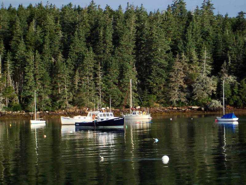 "BOATS AT REST Especially that blue-hulled one, the <i>Mattie Belle</i>, Linda Greenlaw's lobster boat. As she is off on a book tour for her new mystery novel ""Slipknot"" (great read!), her boat and her father -- her sternman -- are getting a little well-deserved rest."