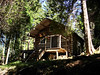 GETAWAY, SWEET GETAWAY<br /> And here we are once again, back at the little log cabin on Eli Creek. This is definitely one of the great benefits of working here at Acadia, getting to use this cabin for a retreat from the madness and mayhem of summer on Mount Desert Island. No mayhem here -- mice, yes, but no mayhem.