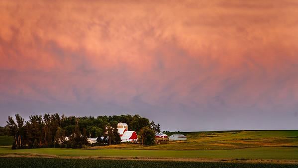 A Storm brews at Sunset...