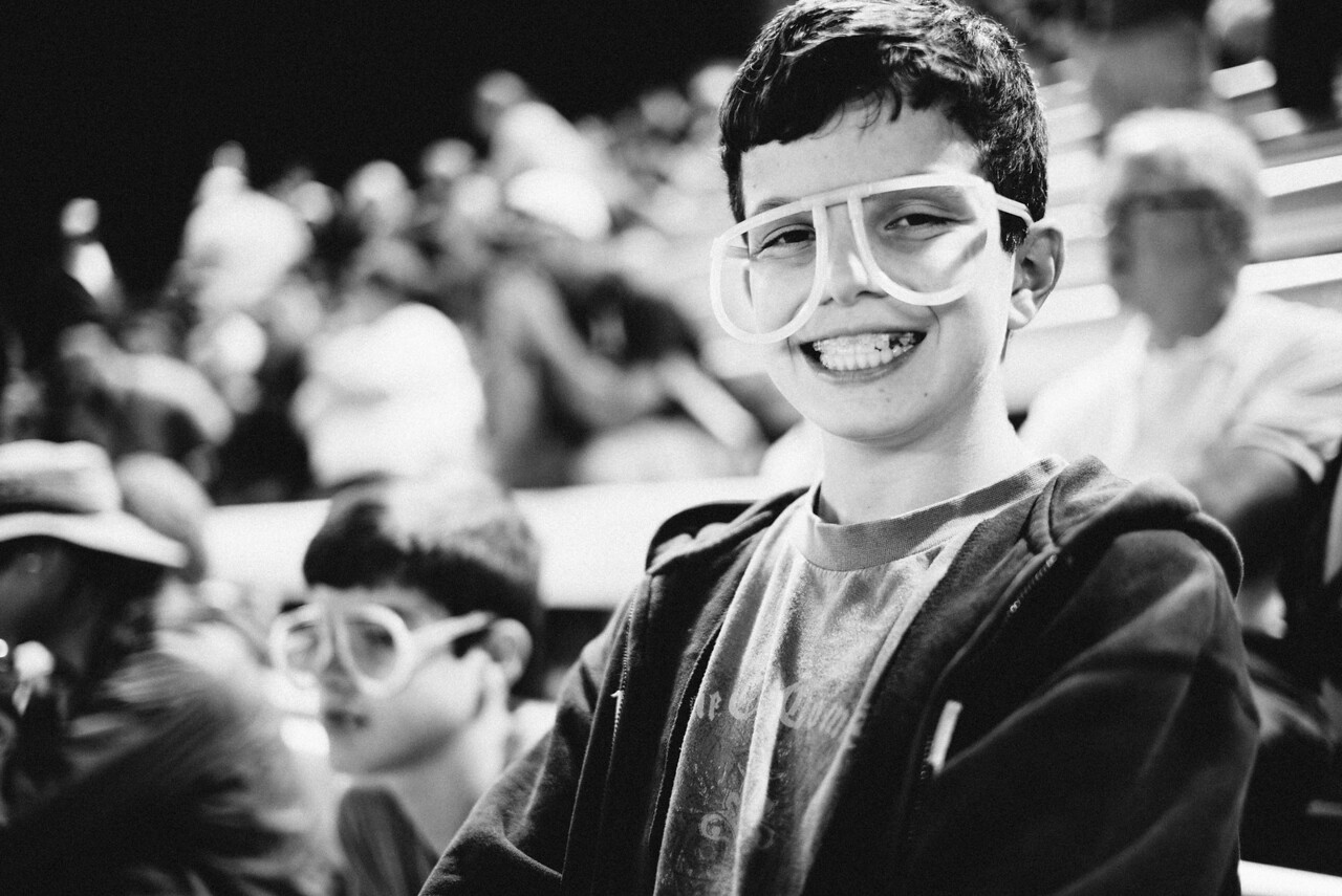 Ethan at the Saints baseball game