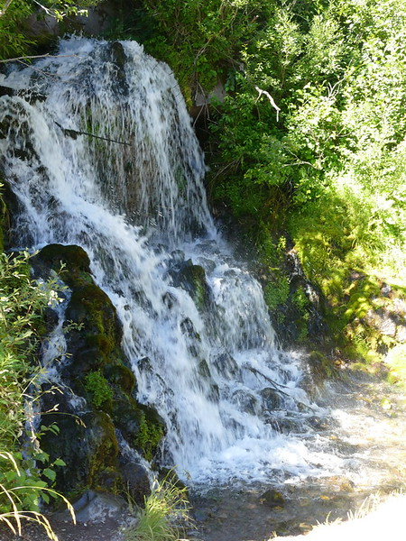 We saw quite  few waterfalls along Timberline Lodge road.