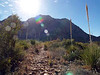 AND OFF WE GO!<br /> Cattail Falls Trail<br /> <br /> Doug taking one of his famous into-the-sun shots. Nice spectral highlights, though. There would only be Dave and Ann and I on this trip, as Peggy had to go back home and Jennifer had to work.