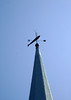 STEEPLE WEATHERVANE<br /> <br /> Now here's something you don't see every day on a church - a weathervane. Especially one with a fish for a pointer. How curious, but most likely a tribute to the fishing community here.