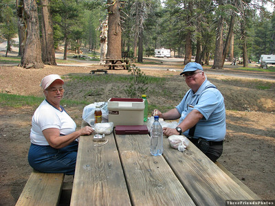 Stop for lunch at a camp ground on the Highland Lake road.
