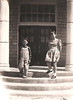1941 - ON THE SCHOOLHOUSE STEPS<br /> And here are Sonny and Nell Moore standing on the very steps you saw in the preceding picture. Okay, so the school has looked like this since at least the 40s.