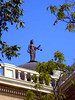 """JUSTICIA, THE ROMAN GODDESS OF JUSTICE<br /> More commonly known as """"Lady Justice,"""" this is possibly the first time I've ever seen (or noticed) a statue of her atop a courthouse."""