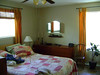 THE MASTER BEDROOM<br /> I love all the windows, and the slat blinds above the bed.