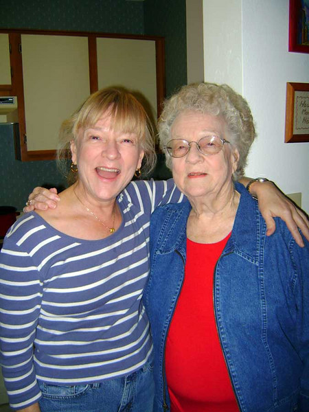 MARY AND MOMMA<br /> A shot of Mary and her mother, Novene Jo, at the new apartment that Novene and her husband, Frank, settled into.