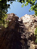 LOOKING UP<br /> <br /> There's the second half of the scene, the top of the waterfall. You can tell there has been water in the past, but there's nothing doing now.