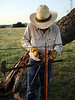 GLEN DALE AT WORK<br /> I thought this was a great shot of a true ranch hand hard at work.