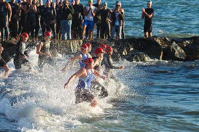 Ladies starting for the 2011 Vineyard Warrior Olympic Distance Triathlon.