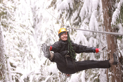 Our Ziptrek Tour on Blackcomb Mountain.  One of our guides.