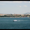 At the Topkapi, we found ourselves with this wonderful view of the Bosphorus,